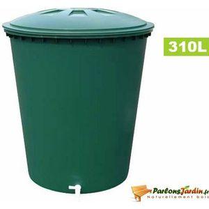 COLLECTEUR EAU - CUVE  Cuve cylindrique de récupération d'eau pluie 310L
