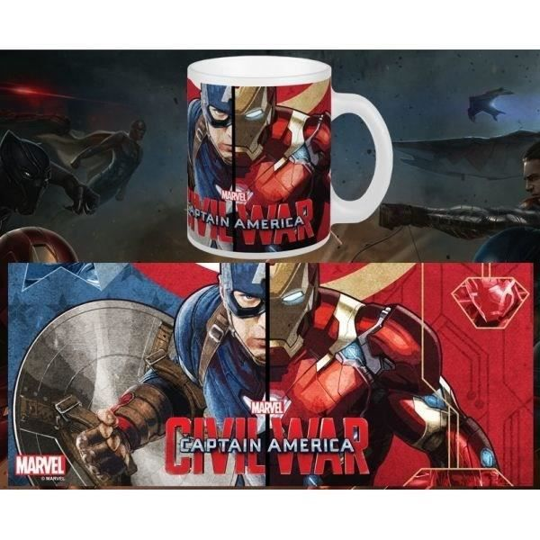 Mug marvel choose your side captain america civil war blanc