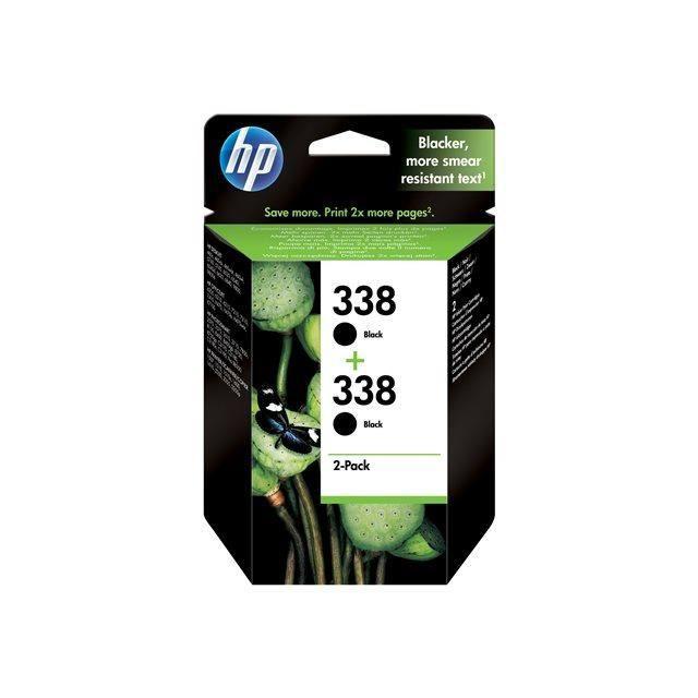 HP 338 Cartouche d'encre Pack de 2 - Noir - 2 x 11 ml - 2 x 480 pages - BlisterCARTOUCHE IMPRIMANTE