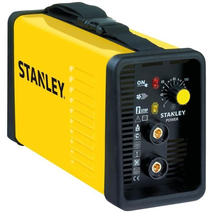 STANLEY Poste à souder à l'arc Inverter 125A POWER140 + malette, masque de protection, pince de masse et porte électrodes