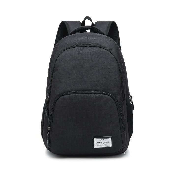 Unisex Sac à Dos Pour Ordinateur Portable Léger Casual School Bookbag Travel Daypack Sac à Dos Pour Hommes Et Femmes (grand, Noir) U