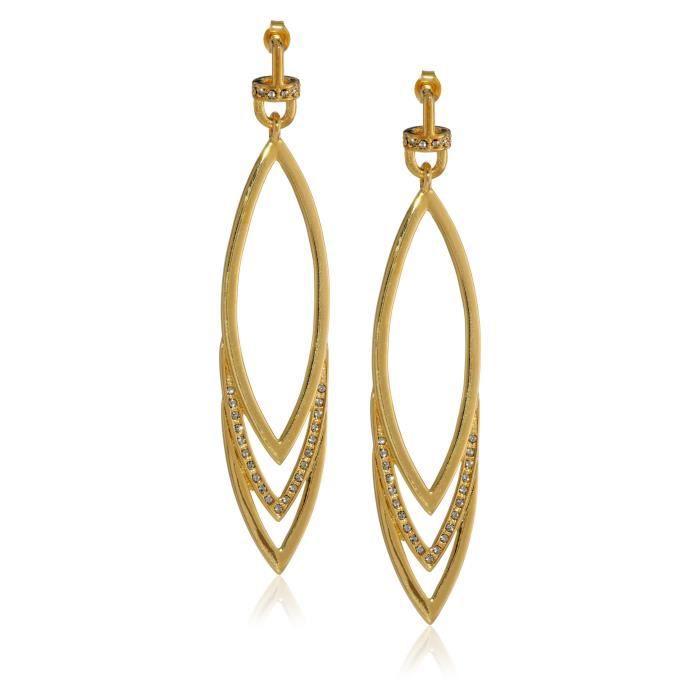 Earring Program Triple Marquis Drop Earrings UM52Z