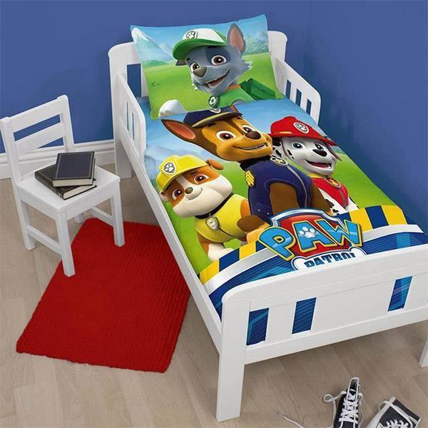 parure de lit pat 39 patrouille pour petit lit achat. Black Bedroom Furniture Sets. Home Design Ideas