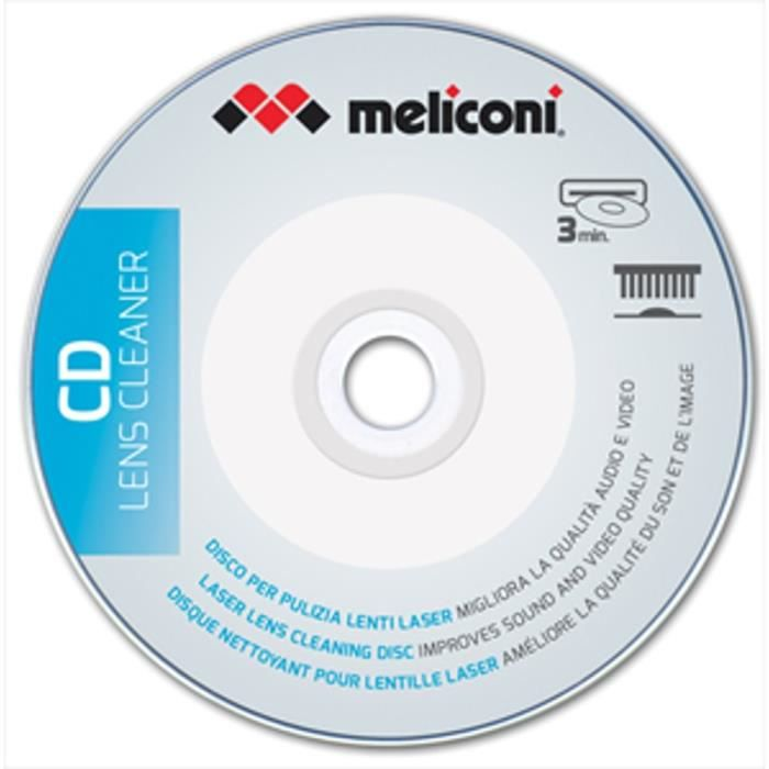 NETTOYAGE TV-VIDEO-SON MELICONI Disque nettoyant pour lecteur CD