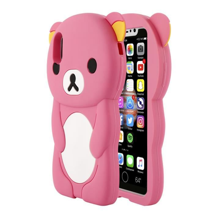 coque silicone iphone x 3d