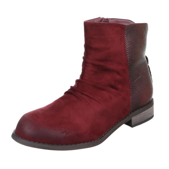 femme bottine chaussure Boots look usé