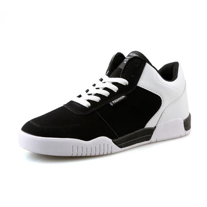 Marque Confortable de chaussure les homme De souliers Baskets air Grande Durable Luxe Skateboarding Taille montants plein nnPrCz