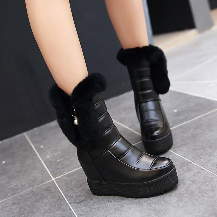 HUIXIN®des bottes mi - mollet en bottes épaisse fourrure épaisse bottes