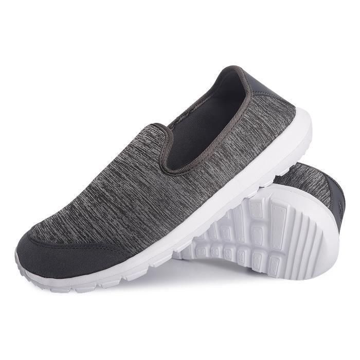 Moccasins Femme Qualité SupéRieure Chaussures Pour Femmes LéGer Version Grande Taille,gris,38