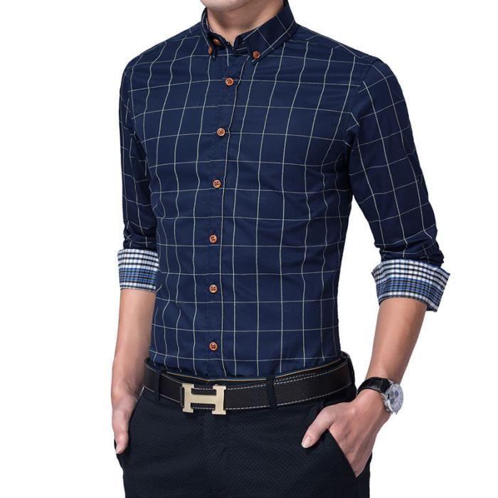 Manche Luxe Vêtements Homme En Marque Longue Maille Chemise Blanche Yq7tw6x5nI