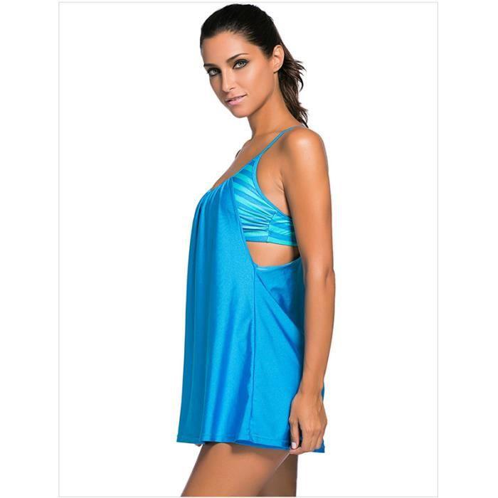 772ec69773 Femmes nouvelle sangle robe plage maillots de bain deux pièces costume  sport mode maillot de bain de printemps