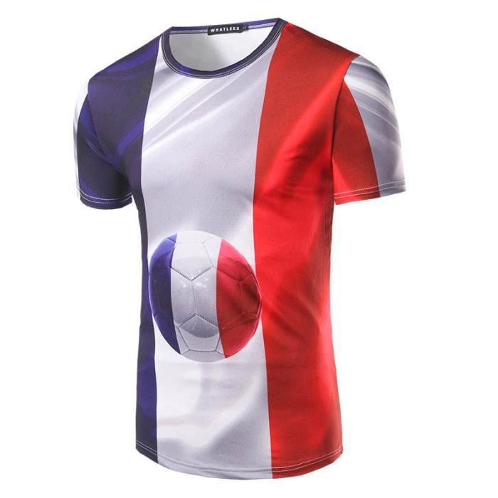 maillot de foot coupe du monde 2018 tee shirt homme blanc blanc achat vente chemise. Black Bedroom Furniture Sets. Home Design Ideas