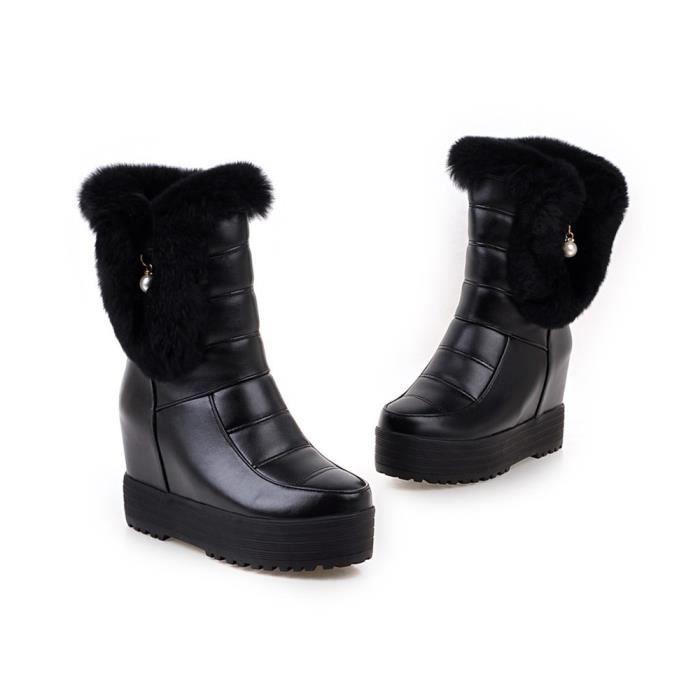 HUIXIN®des bottes mi - mollet en bottes épaisse fourrure épaisse bottes R0BxOJEo