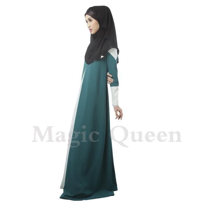 robe éthnique jointive à manches longues-longue à la mode