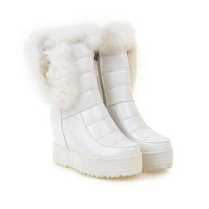 épaisse mi fourrure bottes HUIXIN®des épaisse en bottes bottes mollet TXBcqg5