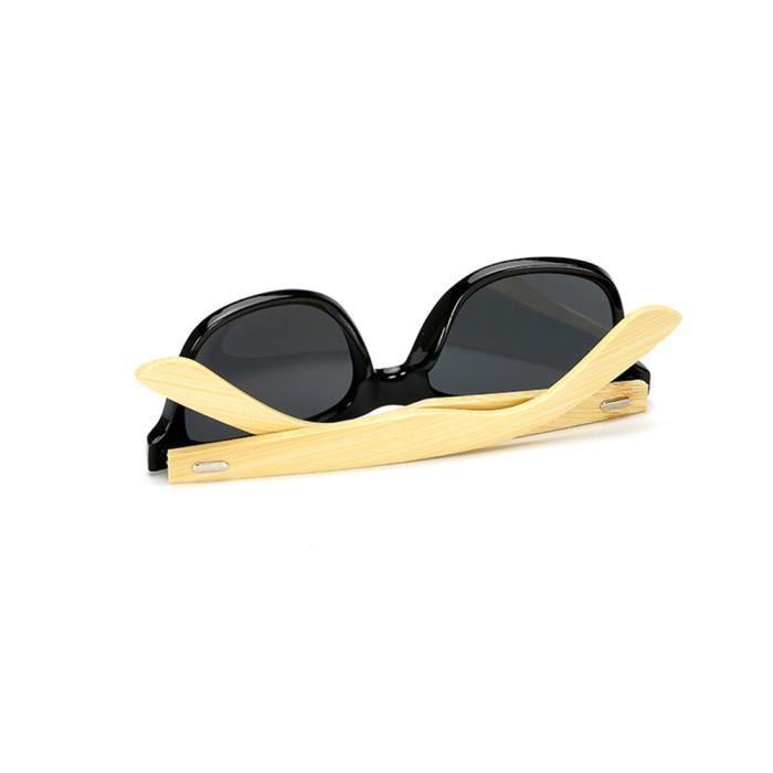 Lunettes de soleil mixte homme et femme polarisées de Retro Cadre sunglasses marque de Luxe Blanc/Golden