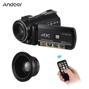 CAMÉSCOPE NUMÉRIQUE Andoer 4K UHD 24MP Caméra Vidéo Numérique Caméscop