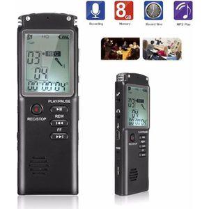 DICTAPHONE - MAGNETO. 8GB Dictaphone Enregistreur Numérique Enregistreur