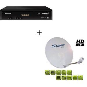RÉCEPTEUR - DÉCODEUR   Pack STRONG SRT 7405 Décodeur TNT HD satellite FRA
