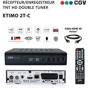 RÉCEPTEUR - DÉCODEUR   CGV ETIMO T2 REC Récepteur TNT HD pour les chaînes