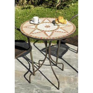 VARESE-60 - Table ronde ø 60cm Couleur mosaique… - Achat / Vente ...