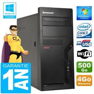 UNITÉ CENTRALE  PC Tour Lenovo M57 Intel E7500 Ram 4Go Disque 500