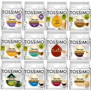 CAFÉ - CHICORÉE Tassimo Cafe Set 144 Dosettes 12 variétés
