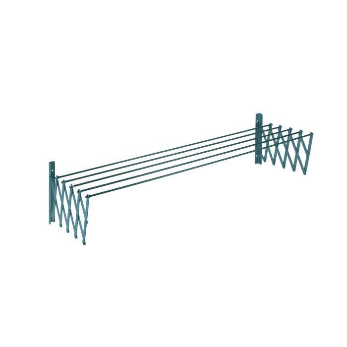 SAUVIC Séchoir à linge extensible plastifié 140 cm - Gris