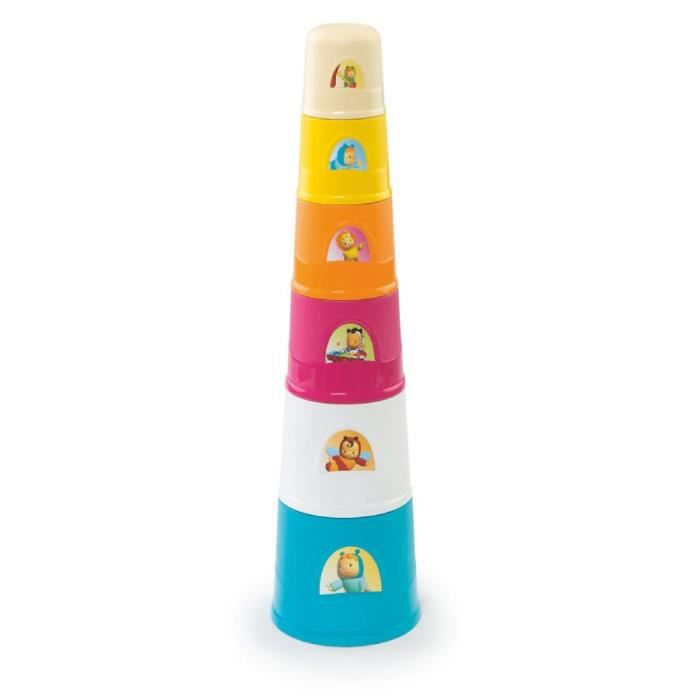 SMOBY Cotoons Magic Tower 40 cm - 6 Gobelets