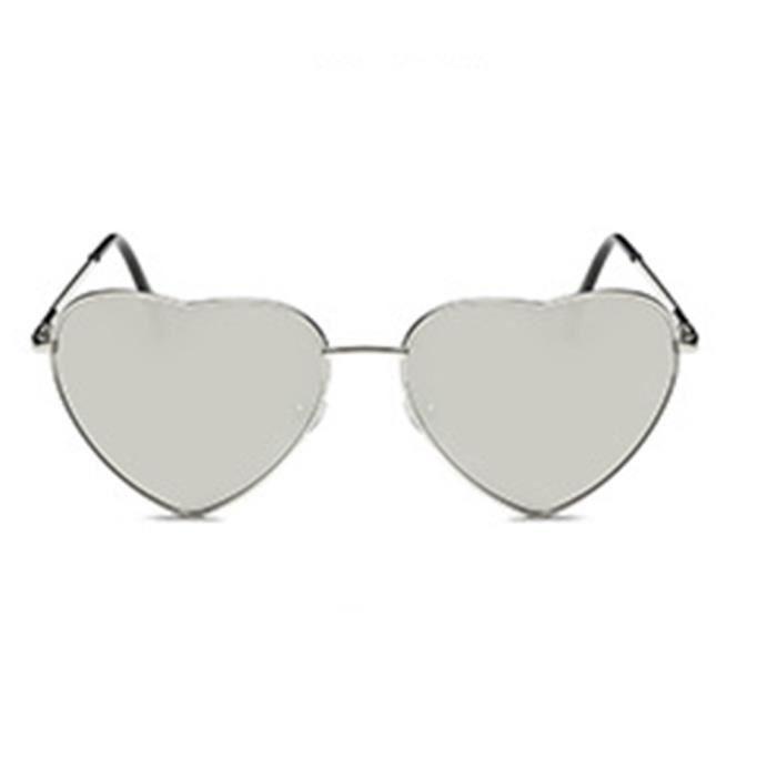 Lunettes de soleil mixte homme et femme de Fashion En forme de coeur  sunglasses Métal Cadre 109a0014dce8