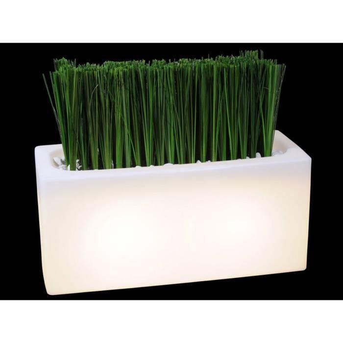 bac fleurs jardini re lumineuse 100 achat vente jardini re pot fleur bac fleurs. Black Bedroom Furniture Sets. Home Design Ideas
