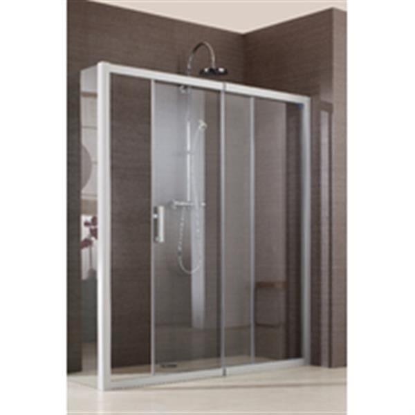 leda porte de douche coulissante jazz 2 vantaux 1 fixe 1 coulissant acc s de face pour. Black Bedroom Furniture Sets. Home Design Ideas