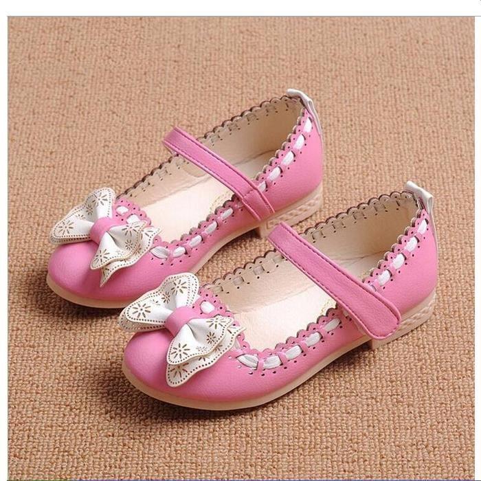Chaussures Filles Sandales pour enfants Enfants Princesse Chaussures Bowtie Chaussures de danse pour les filles Sandales zqpOd