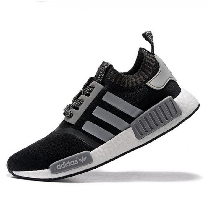 san francisco cf794 0d917 Hommes Adidas Originals NMD RUNNER PK Baskets Running Chaussures Noir Gris