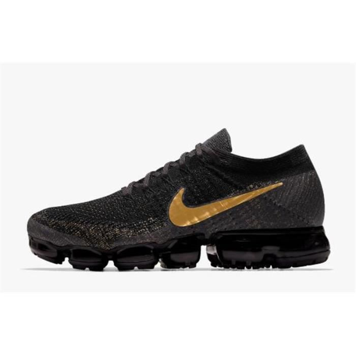 official photos e6660 d6938 Nike Air Vapormax Flyknit,Chaussure De Running Homme Noir Doré