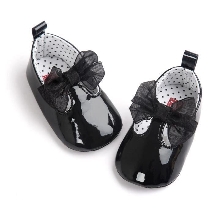 Ballerine bébé 0 à 18 mois, couleur au choix - Noir
