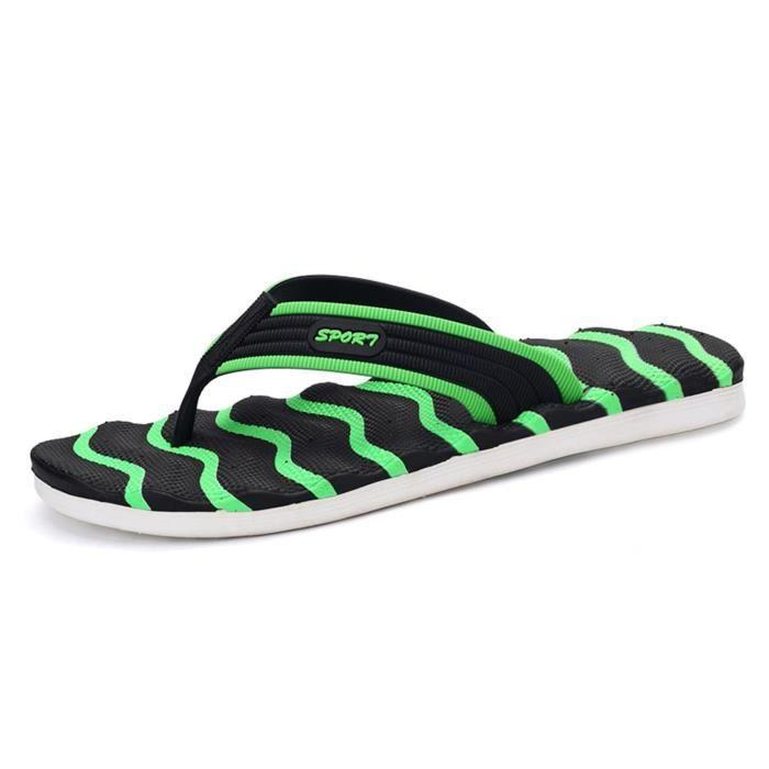 Flip Flops Anti- Slip Sandales de plage de marche Casual en plein air PWTLH Taille-43