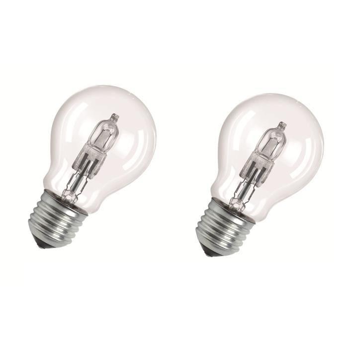 77w100w De Lot Standard 2800k Eco 5cm Halogène E27 2 Ampoules Lumens Dimmable Osram Ø5 1320 L5q4ARc3j