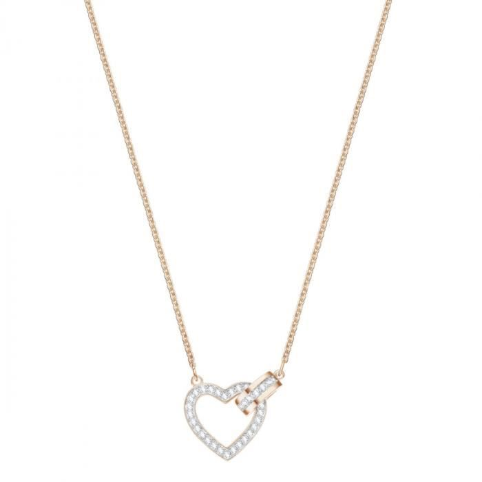 good texture great quality incredible prices Collier Coeur femme Swarovski Lovely - Rosé - 5368540 Rose