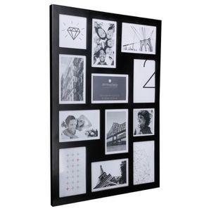 cadre photo pele mele noir achat vente cadre photo pele mele noir pas cher soldes d s le. Black Bedroom Furniture Sets. Home Design Ideas