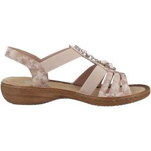 79f4b00a19cd ... SANDALE - NU-PIEDS sandales / nu-pieds 60855 femme rieker 60855 ...