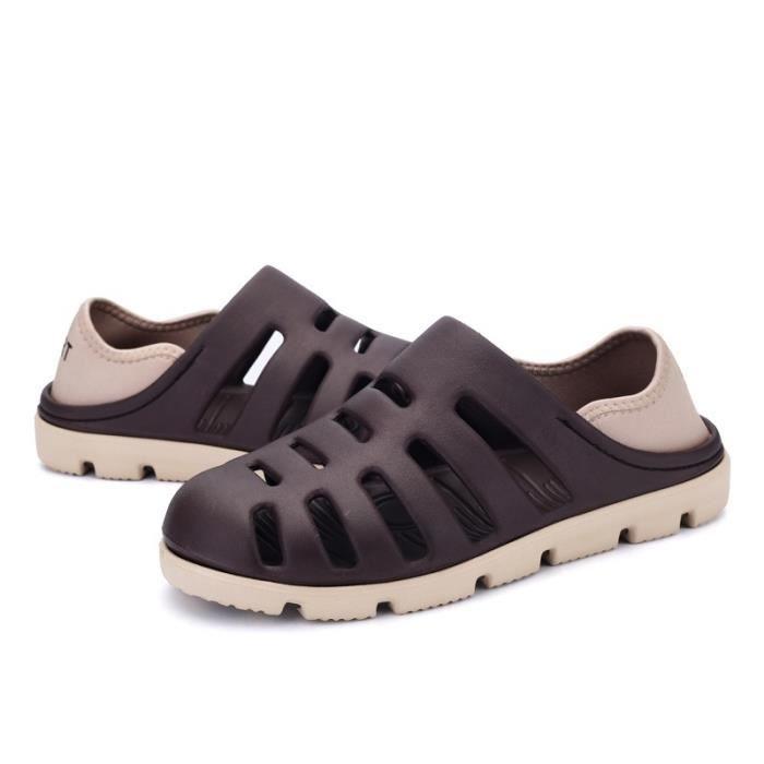 Korean Mode Chaussures de plage antidérapants hommes HdOgmpnGlc