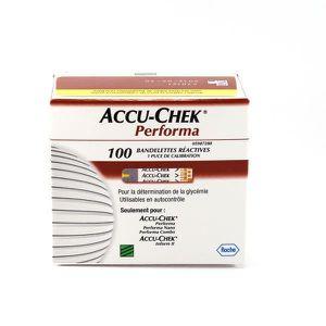 LECTEUR DE GLYCEMIE 100 bandelettes reactives, accu-chek performa