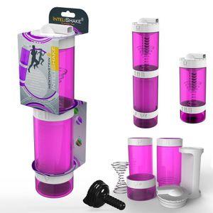 GOURDE Intelishake, flamant rose - Bouteille Shaker Avec