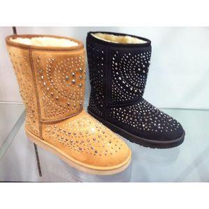 BOTTINE Botte boots femme fourree fourrure