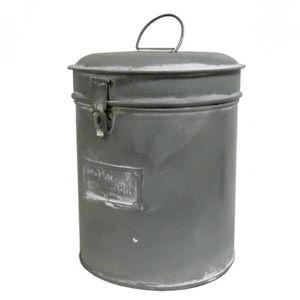 petite boite ronde bocal a epices pot rangement cylindrique en m tal 12 5x12 5x20cm achat. Black Bedroom Furniture Sets. Home Design Ideas
