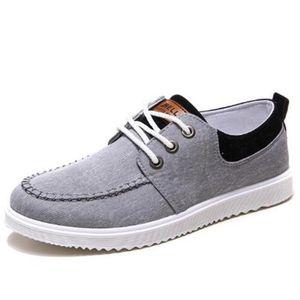 Chaussures En Toile Hommes Basses Quatre Saisons Populaire BBDG-XZ115Gris41 fO7DO