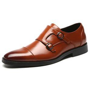 6ab470b5884cd BOTTINE Chaussures de Ville à Boucle en Cuir Oxfords Riche