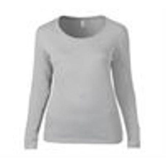 7b5ef5384e37 À Longues Léger Scoop Shirt Manches Anvil Pour Femme Tee StaqwH