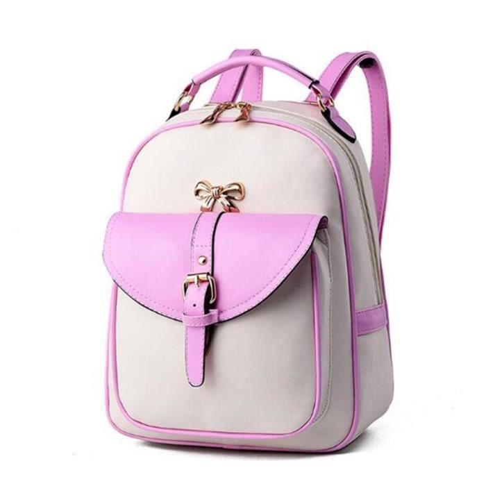 2018 sac à dos de la mode des femmes sacs à main en cuir rose sac cuir femme Sacoche Femme qualité supérieure sac luxe cuir